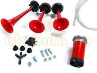TRIPLE TONE AIR HORNS FOR Vauxhall MODELS - HIGH POWER COMPRESSOR AND EASY TO FI