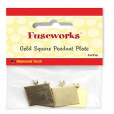 4 Fuseworks Microwave Glass Kiln Square Gold Pendant