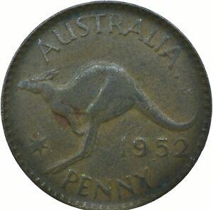 1952 AUSTRALIA - ONE PENNY GEORGE V /One Penny Bronze   #WT21295