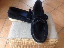 Homme Sous étiquette privée Portugal cuir Chaussures bateau bleu marine Taille 10 EU 44 Très bon état/
