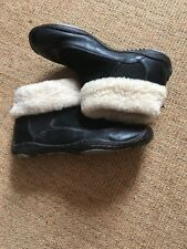 JBU Jambu Birmingham Ankle Boots Leather Fur Size UK 7 US 9