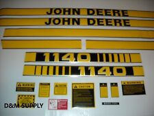 John Deere 1140 tractor decal set with caution kit