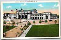 Union Station Washington DC Nice Unused Vintage Train Railroad RR Postcard A13