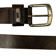 JAG Mens VINTAGE LEATHER BELT Brown Size 80 cm 32 inches Made In Australia Y5