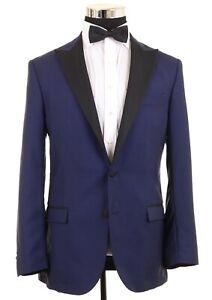 Tiger of Sweden Blue Vitale Barberis WOOL MOAHIR Formal Tuxedo Jacket Blazer 42