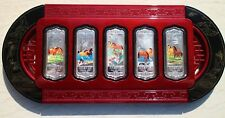 China 2014 5 x 20g Colorized Silver Bars / Medals - Lunar Year of the Horse