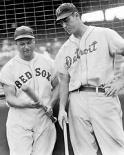 JIMMIE FOXX & HANK GREENBERG 8X10 PHOTO BOSTON RED SOX TIGERS BASEBALL PICTURE