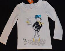 New girls GYMBOREE long sleeve shirt with french girl walking dog Size 4