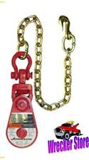 2 TON GUNNEBO JOHNSON SNATCH BLOCK with Chain for WRECKER, TOW TRUCK, ROLLBACK