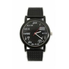 ThumbsUp Equation Unisex Quartz Watch With Black Dial Analogue Display and Blac