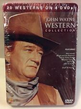 New John Wayne Western Collection Tin Case Set DVD 2009 4-Disc Movie