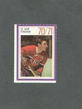 1970-71 Esso Hockey Stamp John Ferguson Montreal Canadiens