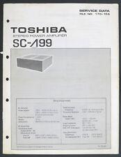 TOSHIBA SC-A99 LAMBDA Original Amplifier Service-Manual/Diagram/Parts List o175