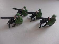 lot de 4 soldats  de plomb avec mitrailleuses