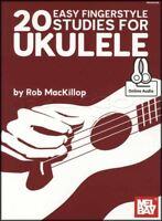 20 Easy Fingerstyle Studies for Ukulele TAB & Music Book with Audio Uke Mel Bay
