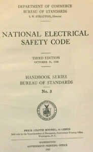1920 National Electrical Safety Code 3rd edition