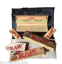 Raw Smokers Wallet Pouch And Raw Kingsize Papers And Raw Tips RYO Set