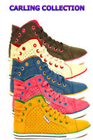 LADIES WOMENS GIRLS SPORTS FASHION TRAINERS HIGH TOP SHOES SIZE 3 4 5 6 7 8 NEW