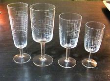 Service de verres 35 pièces Art Moderne Décor Taillé milieu XXe