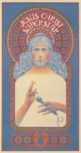 Original Vintage Affiche Jesus Christ Superstar Musical Andrew Lloyd Webber 1971