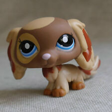 Littlest pet shop Brown yellow Spainal DOG Pubby LPS #1825 mini Action Figure