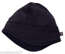 MERINO WOOL SPANDEX SOLID BLACK HEAD WARMER BEANIE WITH EAR COVERS **
