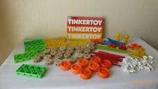 Vintage Tinkertoy Child Guidance 1983 Wood Plastic Rare Figures Instructions