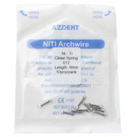 """10 PCS/Pack AZDENT Dental Orthodontic Ortho Closed Coil Spring 0.012"""" 6mm SALE"""