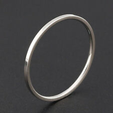 Simple Fine Ring Plain Titanium Ring Steel Extremely Ring Rose Gold Lovers Lady