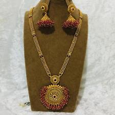 Bollywood Indian Jewellery Ethnic  Bridal  Kundan Ranni Haar  Necklace Earrings