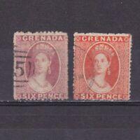 GRENADA 1863, SG# 6-7, CV £25, part set, Wmk Small star, Used