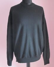 VTG Ladies Unbranded Black Crew Neck Wool / Acrylic Mix Jumper Size XL (90f)