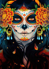 THE DAY OF THE DEAD Mexican Art *  QUALITY CANVAS PRINT