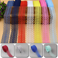 10m Lace Ribbon Tape Trim Fabric DIY Embroidered Net Lace For Sewing Decoration
