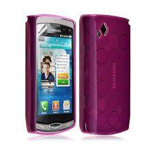 Housse étui coque gel hydro pour Samsung Wave 2 S8530 couleur rose fuschia