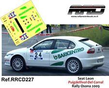DECAL/CALCA 1/43; Seat Leon; Puigdellivol-Del Corral; Rally Osona 2009