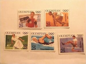 Set of 25 cent Olympian Stamps (SC2496-2500) MNH