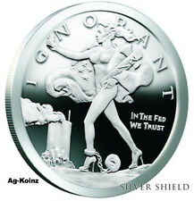 1 oz 2016 Blinded Liberty Proof + COA & Box Silver Shield Eagle ONLY 830 Minted