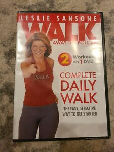 Leslie Sansone COMPLETE DAILY WALK (DVD) Walk Away the Pounds workouts NEW