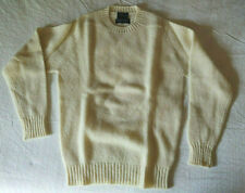 Vintage NORDSTROM Men's Small Light Yellow Wool Crew Neck  Sweater