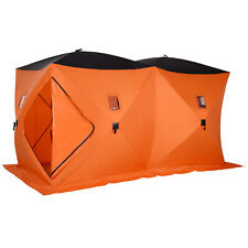Portable 8-Person Ice Fishing Tent Shelter with Ventilation Windows, Carry Bag