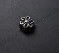 30pcs Tibetan Silver Carved Flower Bend Tube Charms Spacers beads 33mm