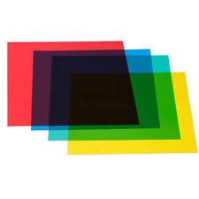4pcs Color Gel Filters for Photo Studio Flash Strobe Speedlite Lighting Kit