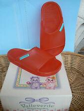 NUOVO Valleverde sandali ciabatte mare num.22 colore rosso