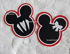DISNEY BRIDE & GROOM MICKEY MINNIE HEADS Scrapbook Page Die Cut Paper Pieces