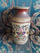 Russian pottery vase decorated with flowers and birds, marked on base[*]
