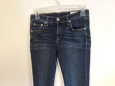Rag & Bone Skinny Jean Size 26 Dark wash tapered straight leg Euc