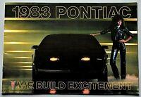 "ORIGINAL 1983 PONTIAC FULL LINE SALES BROCHURE ~ 46 PAGES ~ 7.5"" X 11"" ~ 83PONT"