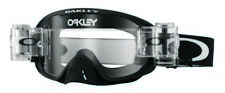 OAKLEY O2 MOTOCROSS ENDURO MX BIKE GOGGLE MATTE BLACK with ROLL OFFS R/R