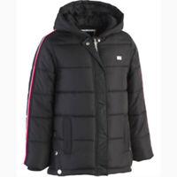New Tommy Hilfiger Girls Hooded Puffer Jacket Black Choose Size MSRP $110.00